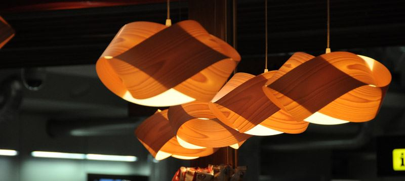 LZF Nut wood suspension design lighting